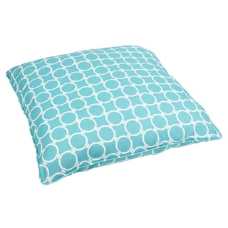Linked Aqua Corded Outdoor/ Indoor Large 28-inch Floor Pillow