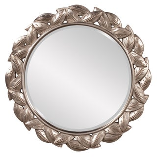 Julius Antique Silver Leaf Round Mirror