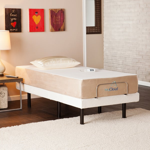 Mycloud adjustable bed twin xl size with 10 inch gel infused memory foam mattress 15827578 Best deal on twin mattress