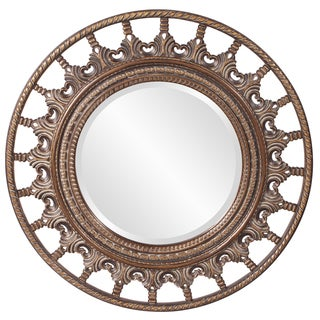Bronze Resin Marrakech Spindle Style Wheel Round Mirror