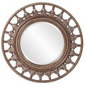 Bronze Resin Marrakech Spindle Style Wheel Round Mirror