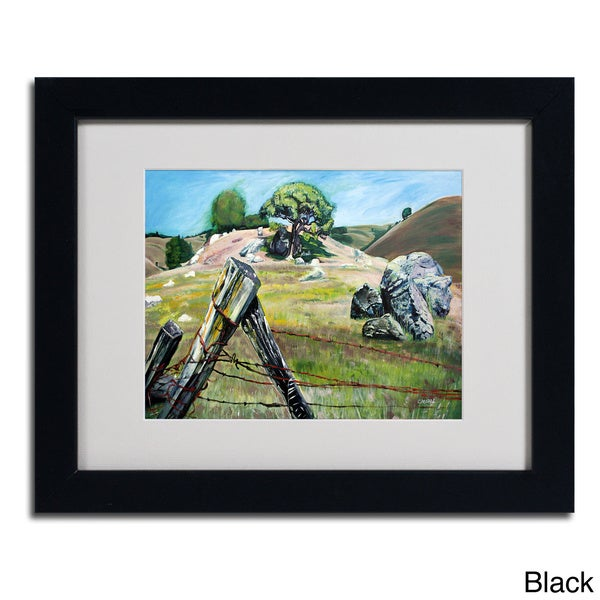 Colleen Proppe 'Nicasio Fence Post' Framed Matted Art