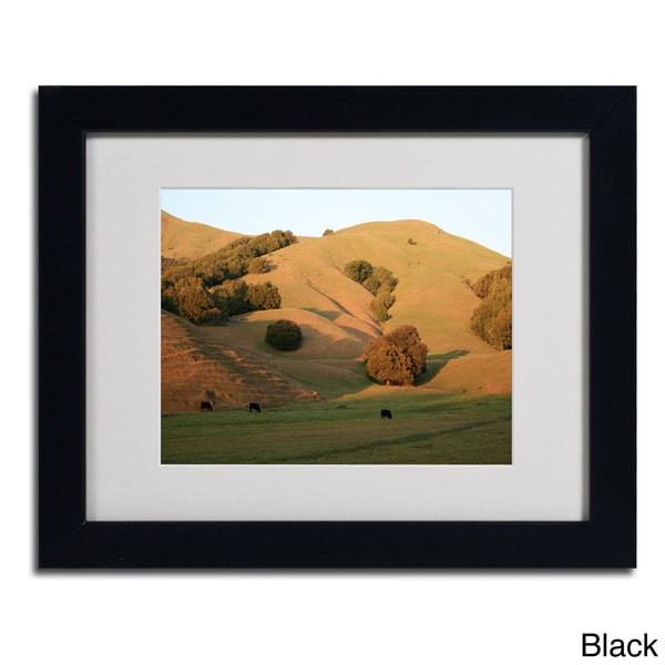Colleen Proppe 'Red Hills Flanders' Framed Matted Art