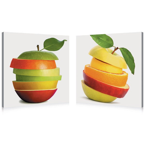 Fruit Medley Mounted Photography Print Diptych