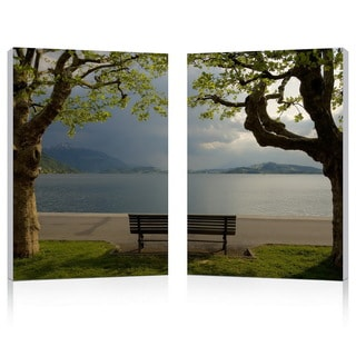 Pristine View Mounted Photography Print Diptych