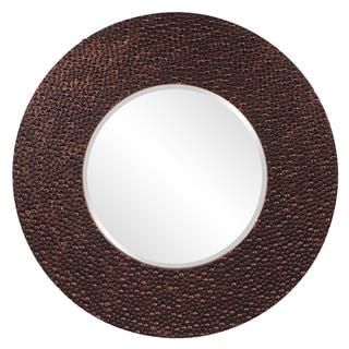 Copper Bronze Resin Small Myan Round Mirror
