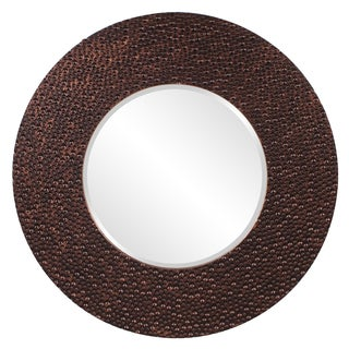 Copper Bronze Resin Small Myan Round Mirror