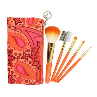 Jacki Design Summer Bliss 5-piece Makeup Brush and Case Set