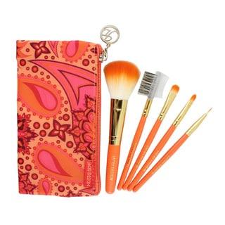 Jacki Design Summer Bliss 5-piece Makeup Brush and Case Set