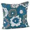 Crewel Work 17-inch Down Fill Decorative Throw Pillow
