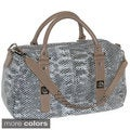 Buxton 'Sophie' Glazed Leather Snakeskin Embossed Satchel
