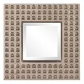 Spike Bright Silver Leaf Square Mirror