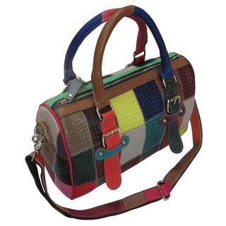 Amerileather 'Barbara' Patchwork Leather Structured Tote