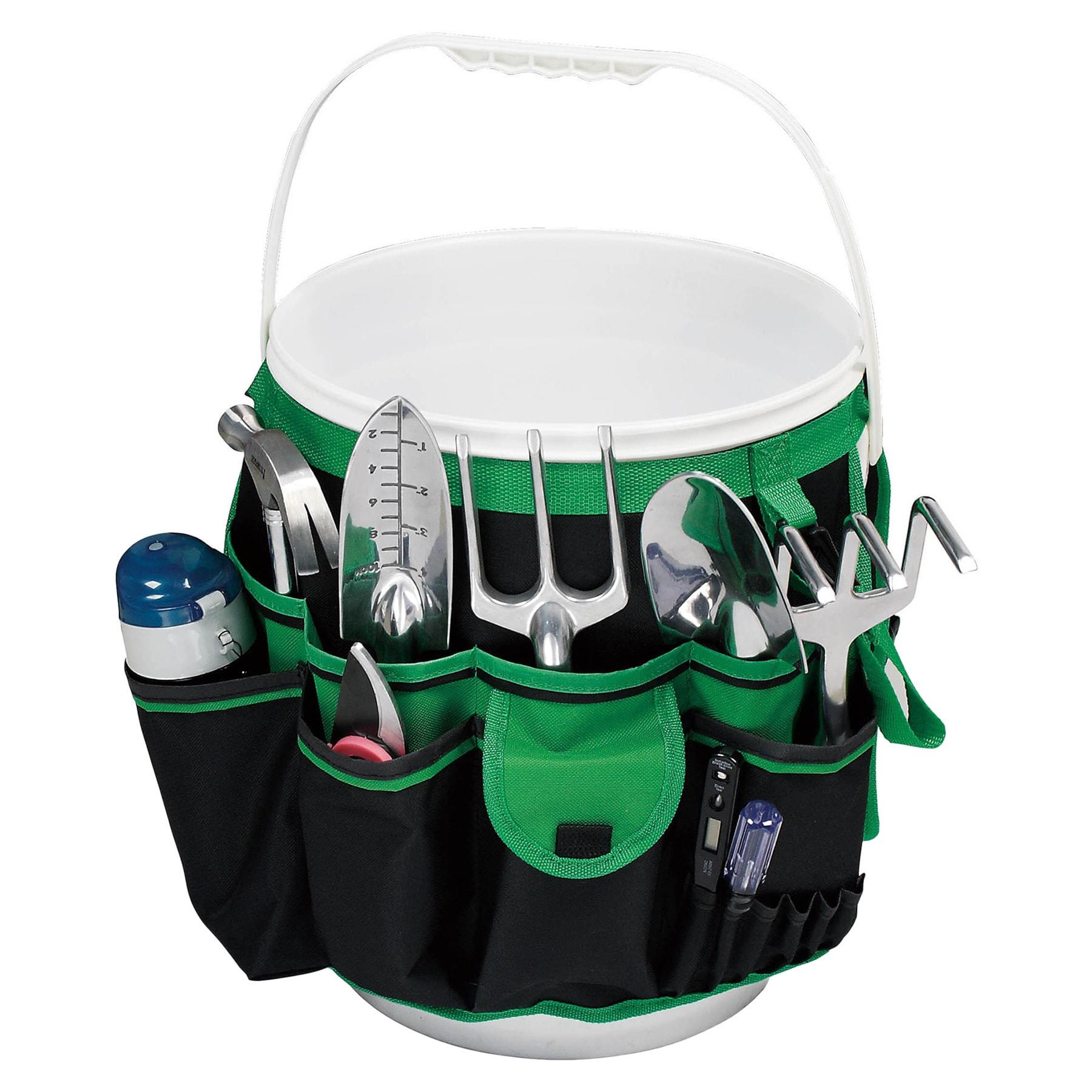 Overstock.com Green Hanging Pocket Organizer for Buckets