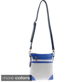 Buxton 'Isabella' Colorblock Perforated Crossbody Bag