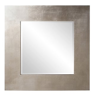 Hedge Bright Silver Leaf Square Mirror