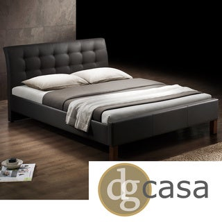 DG Casa Kingston Dark Brown Upholstered Bed