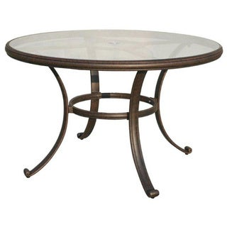 Venice Round Desert Bronze Outdoor Dining Table