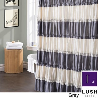 Lush Decor Isla Ruffled Flounced Shower Curtain