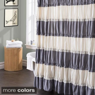 Isla Ruffled Flounced Shower Curtain