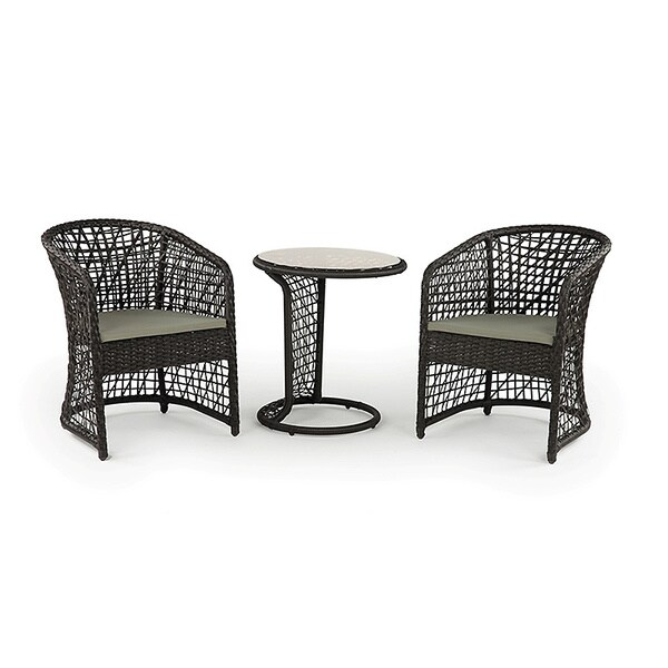 Coquette All weather Wicker Patio Furniture Bistro Set Overstock