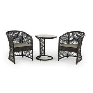 Coquette All-weather Wicker Patio Furniture Bistro Set