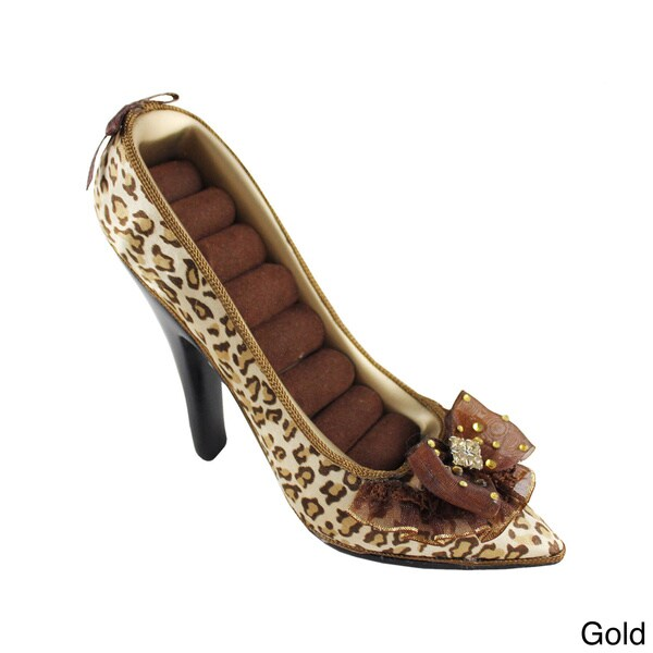 Jacki Design Pin-up Cheetah Shoe Ring Holder