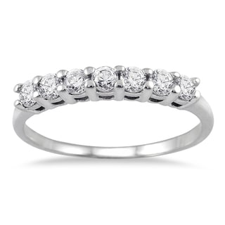 14k White Gold 1/2ct TDW Diamond Ring (I-J, I2-I3)