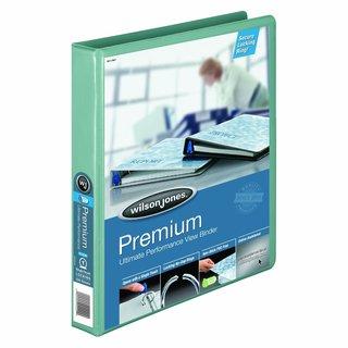 Wilson Jones Premium 12-pack Single Touch 1-inch Locking Round Ring Seafoam View Binder