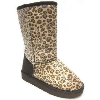 Blue Women's K-Ugena Leopard Boot