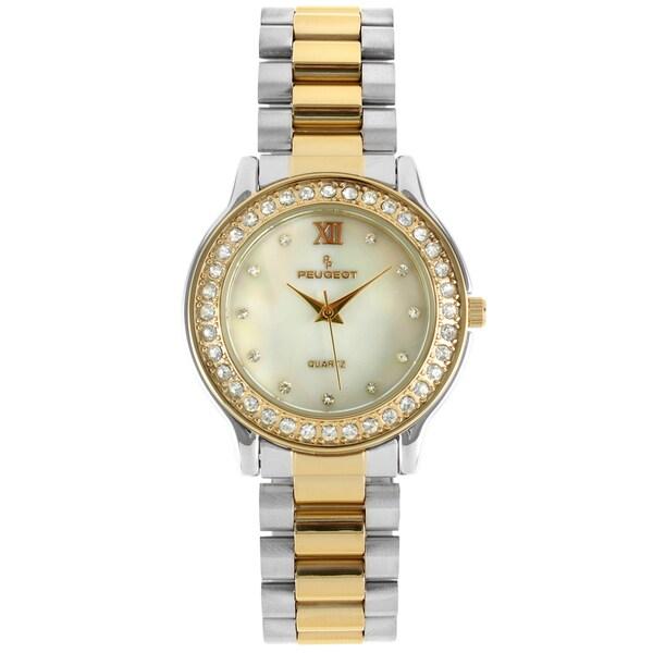 Peugeot Women's Two-Tone Crystal Accent Bracelet Watch