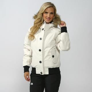 The North Face Women's Vintage White Brenda's Bomber Jacket