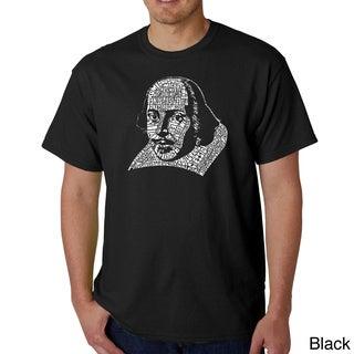 Los Angeles Pop Art Men's William Shakespeare T-shirt