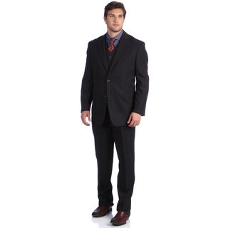 Lucelli Men's Grey Serge Vested 2-button Suit