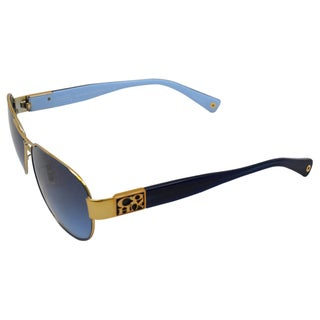 Coach Women's 'Charity HC7009Q 905417' Gold/Blue Sunglasses