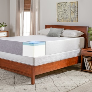Select Luxury Swirl Gel Memory Foam 12-inch Medium Firm Queen-size Mattress Set with EZ Fit Foundation