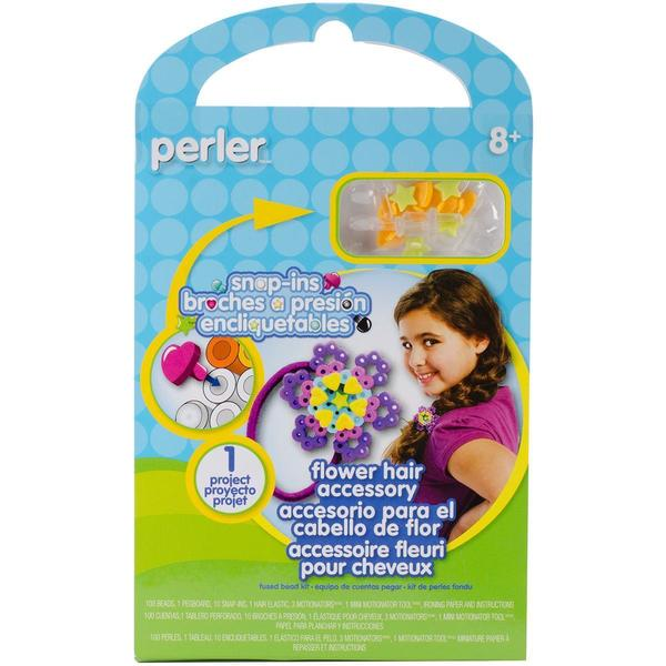 Perler Snap-Ins Fun Fusion Fuse Bead Activity Kit - Flower Hair Accessory