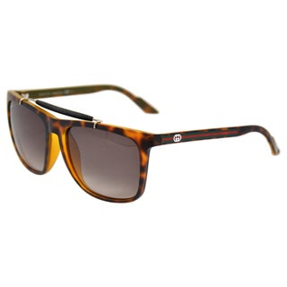 Gucci Women's 'GG 3588/S 0791' Havana Fashion Sunglasses