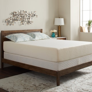Select Luxury Swirl Gel Memory Foam 12-inch King-size Medium Firm Mattress Set with EZ Fit Foundation