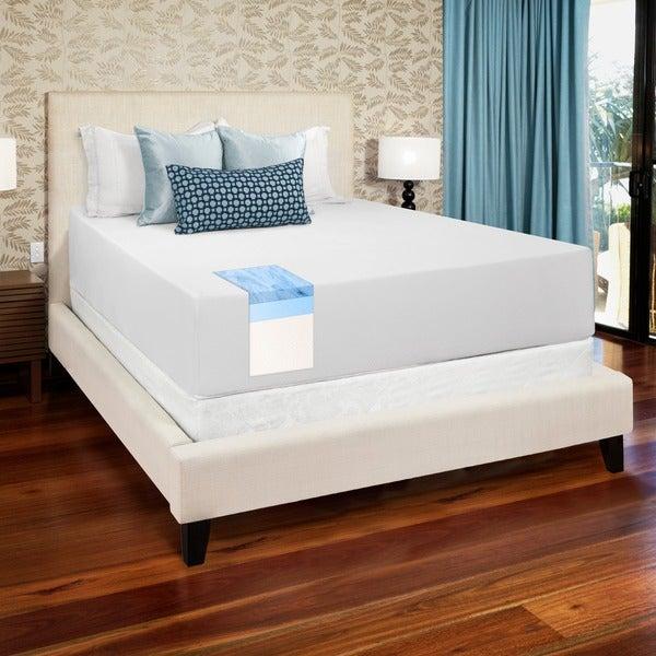 Select Luxury Gel Memory Foam 14-inch Medium Firm King-size Mattress Set with EZ Fit Foundation