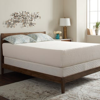 Select Luxury Swirl Gel Memory Foam 14-inch Full-size Medium Firm Mattress Set with EZ Fit Foundation