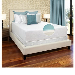 Select Luxury Gel Memory Foam 14-inch Full-size Medium Firm Mattress Set with EZ Fit Foundation