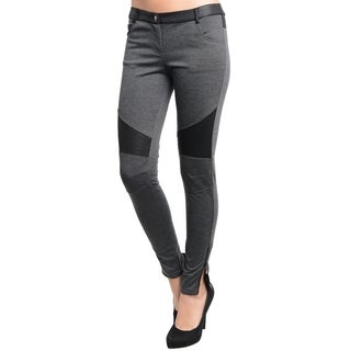 Stanzino Women's Grey Skinny Biker Pants