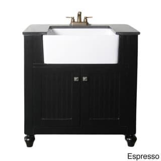 Legion Furniture 30-inch Bathroom Vanity Farmhouse Apron Style Single-sink With Granite Top
