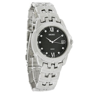 Seiko Men's Stainless Steel Diamond Watch