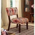 Multi-color Ikat Large Accent Chair
