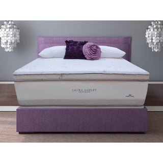 Laura Ashley Periwinkle Super Size Queen-size Mattress and Foundation Set