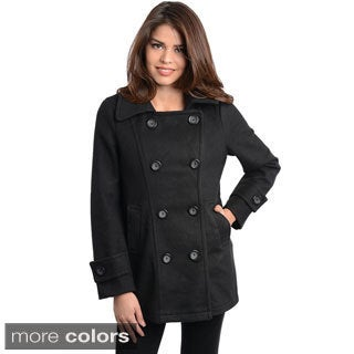 Stanzino Women's Double Breasted Peacoat