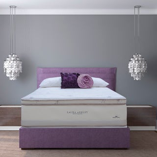 Laura Ashley Lavender Euro Pillowtop Full-size Mattress and Foundation Set