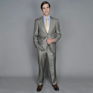 Men's Sand Stripe 2-button Suit